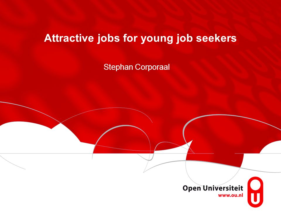 Attractive jobs for young job seekers