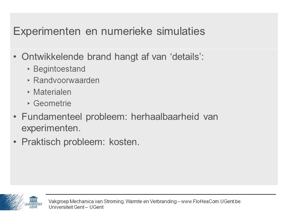 Experimenten en numerieke simulaties