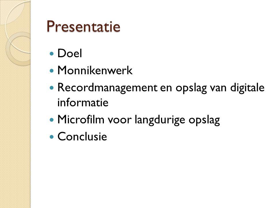 Presentatie Doel Monnikenwerk