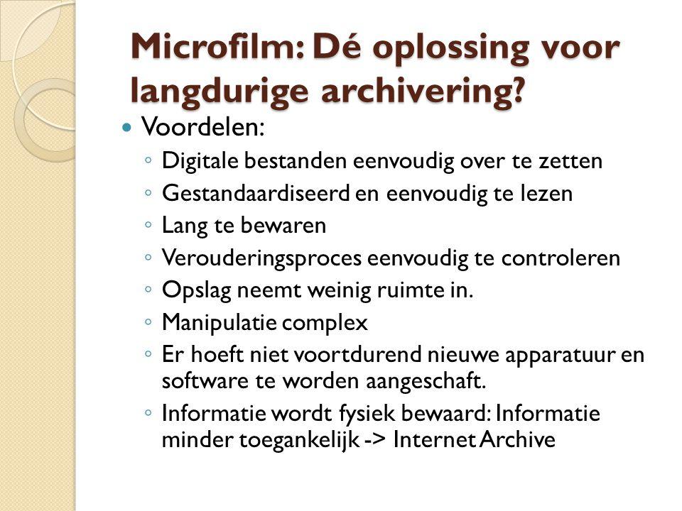 Microfilm: Dé oplossing voor langdurige archivering