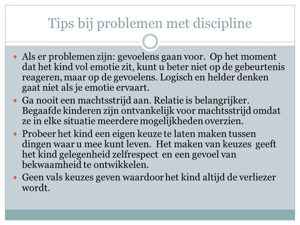 Tips bij problemen met discipline