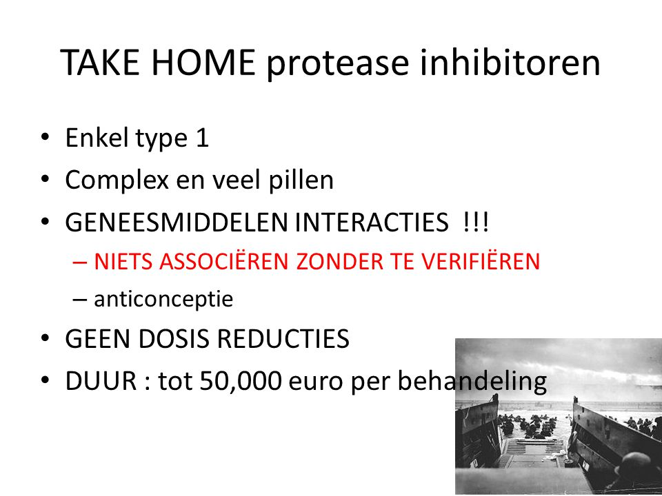 TAKE HOME protease inhibitoren