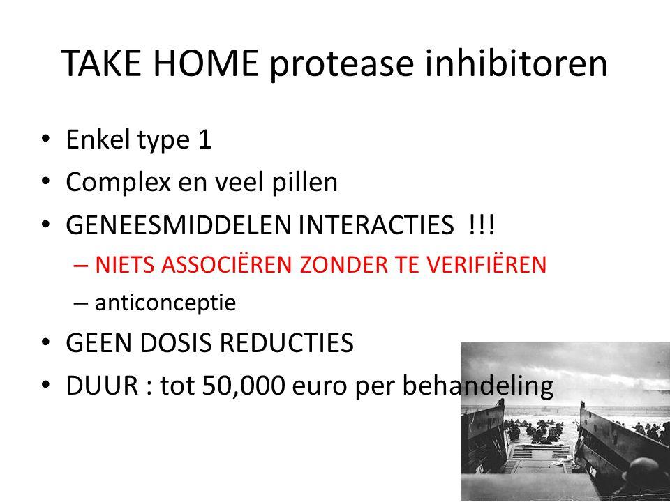 TAKE HOME protease inhibitoren
