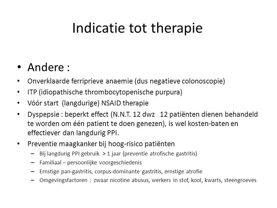 Indicatie tot therapie