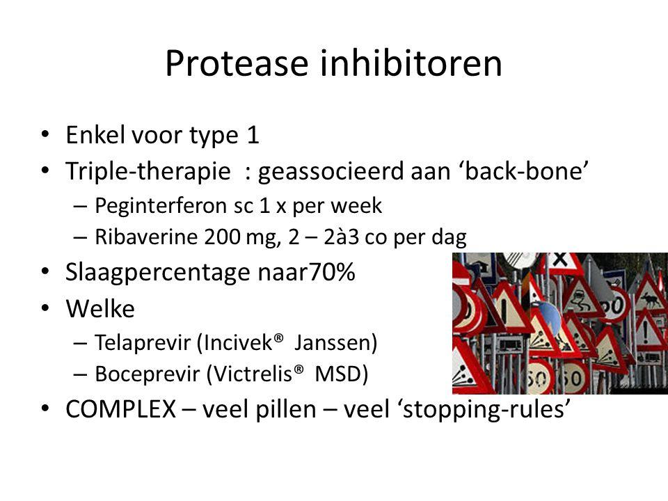 Protease inhibitoren Enkel voor type 1