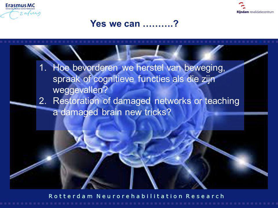 Yes we can ………. Hoe bevorderen we herstel van beweging, spraak of cognitieve functies als die zijn weggevallen