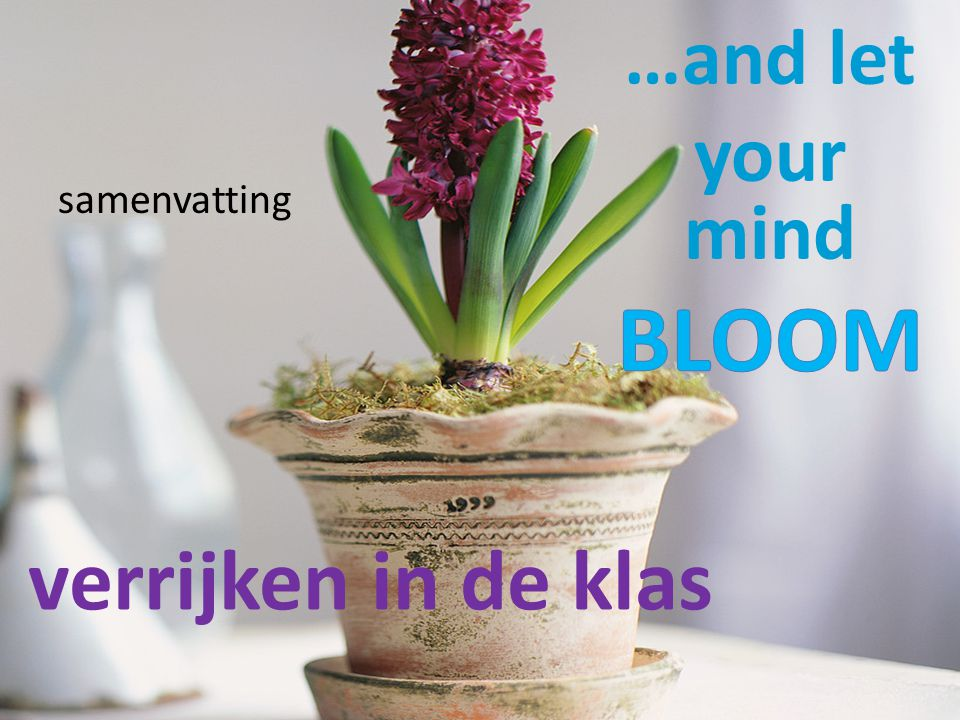 …and let your mind BLOOM samenvatting verrijken in de klas