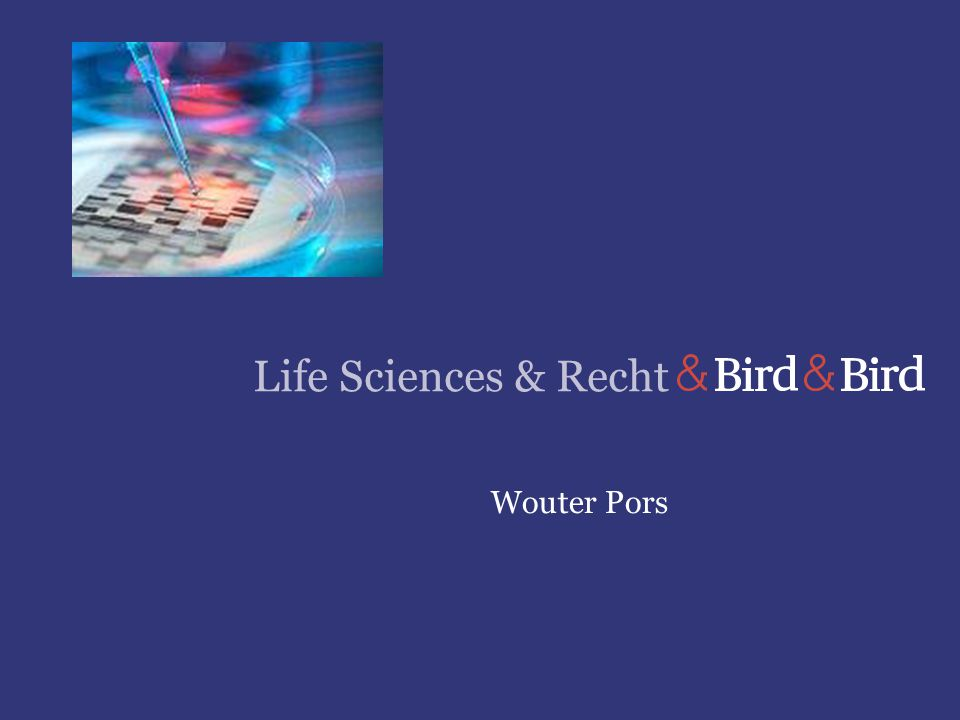 Life Sciences & Recht Wouter Pors
