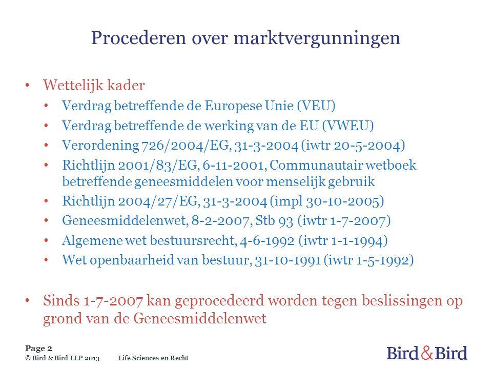 Procederen over marktvergunningen