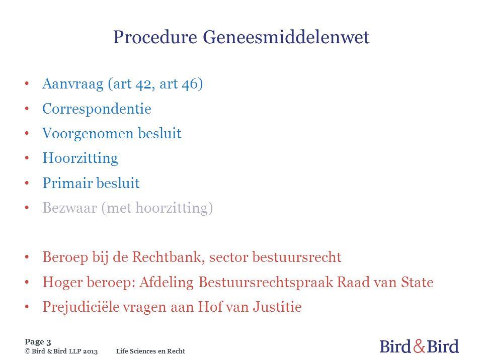 Procedure Geneesmiddelenwet