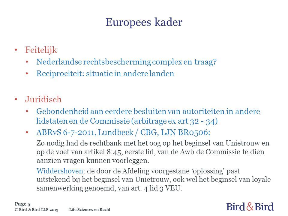Europees kader Feitelijk Juridisch