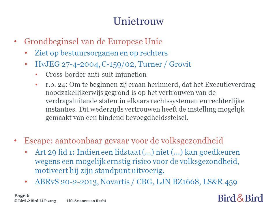 Unietrouw Grondbeginsel van de Europese Unie