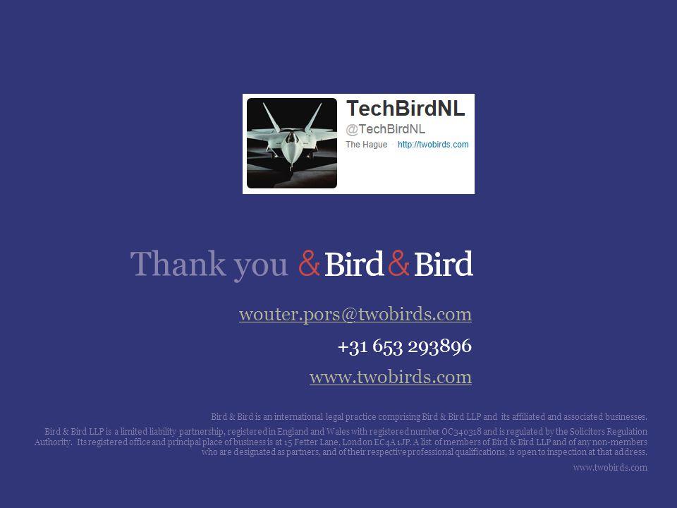 wouter.pors@twobirds.com +31 653 293896 www.twobirds.com