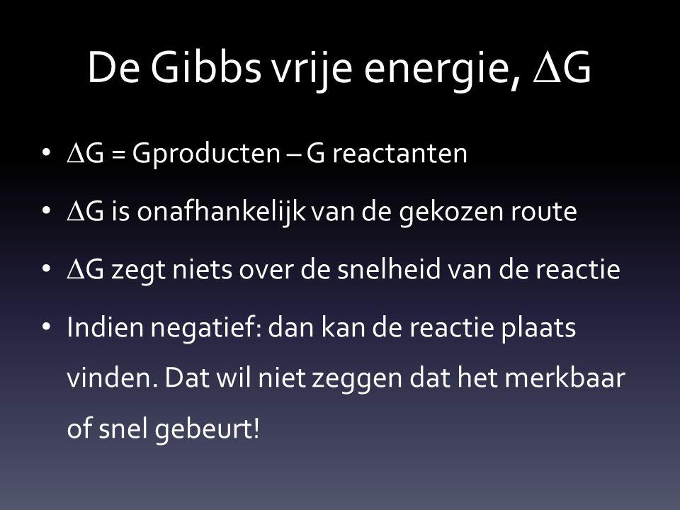 De Gibbs vrije energie, DG