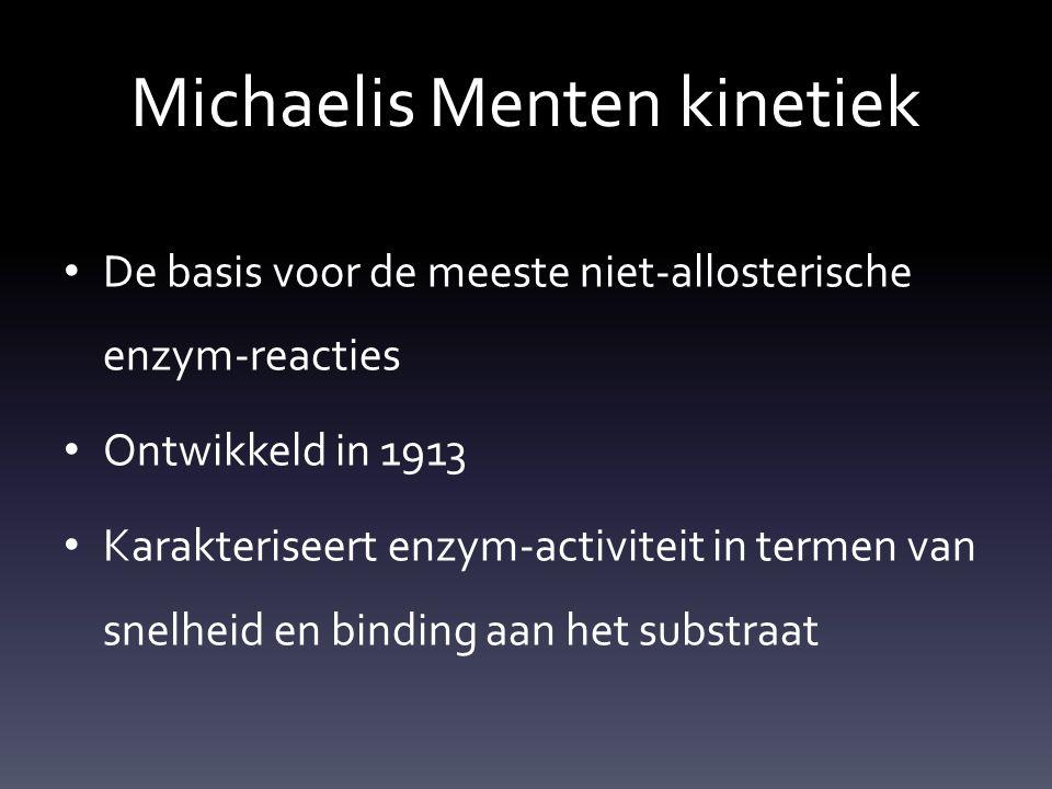 Michaelis Menten kinetiek