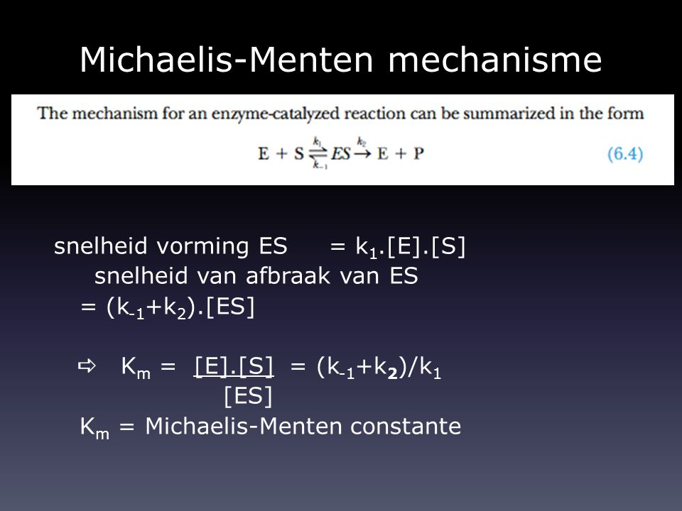 Michaelis-Menten mechanisme