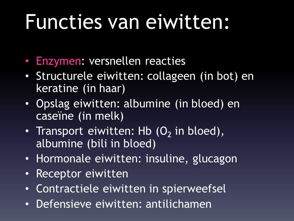 Functies van eiwitten: