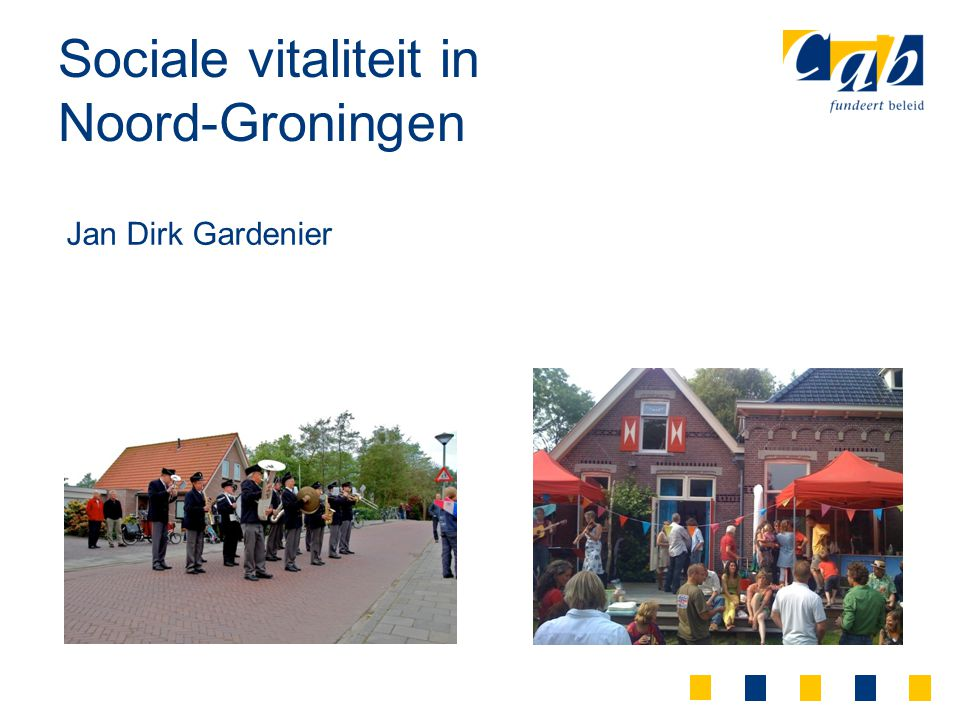 Sociale vitaliteit in Noord-Groningen