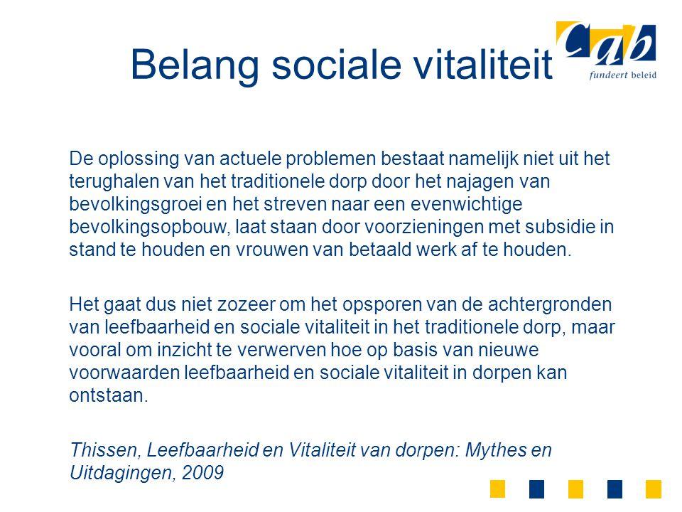 Belang sociale vitaliteit
