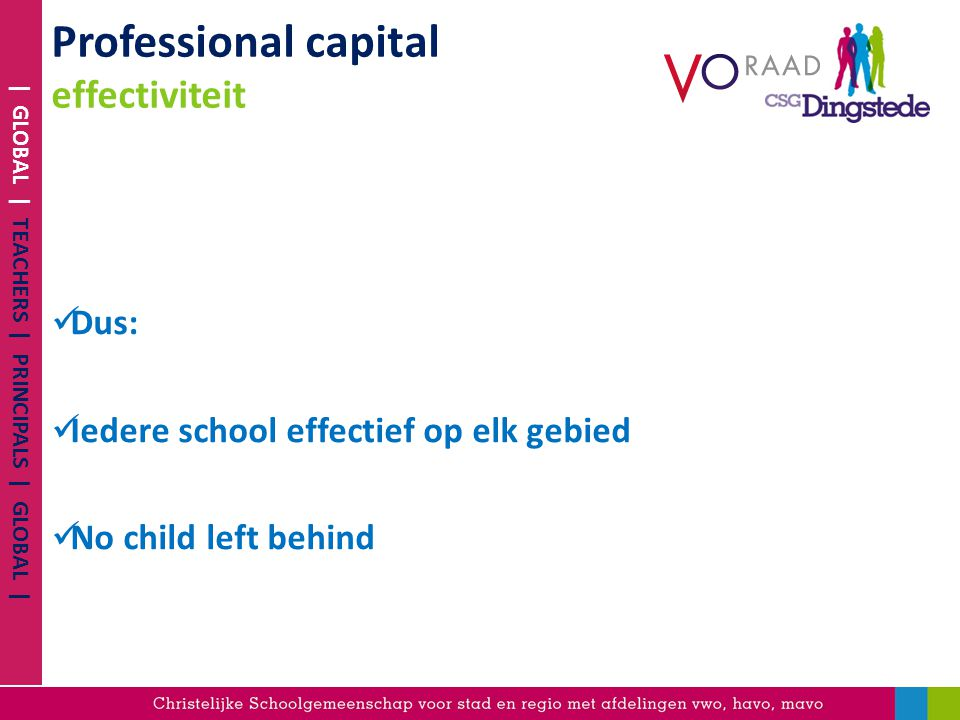 Professional capital effectiviteit