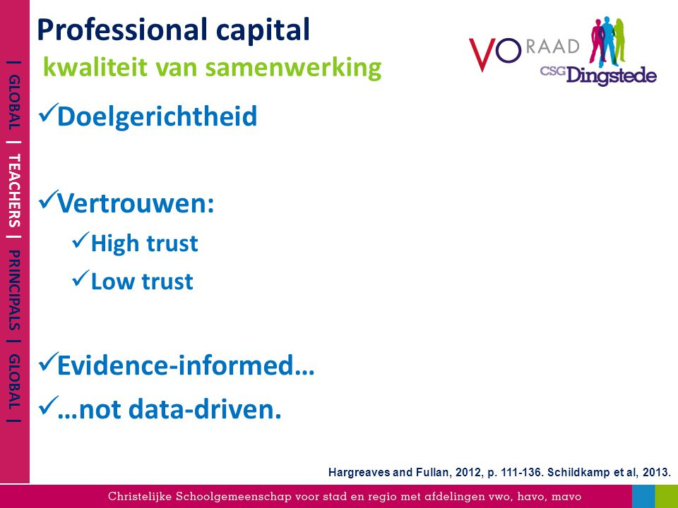 Professional capital kwaliteit van samenwerking
