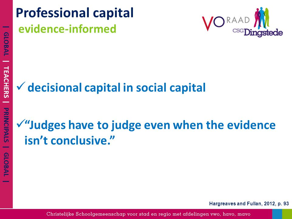 Professional capital evidence-informed
