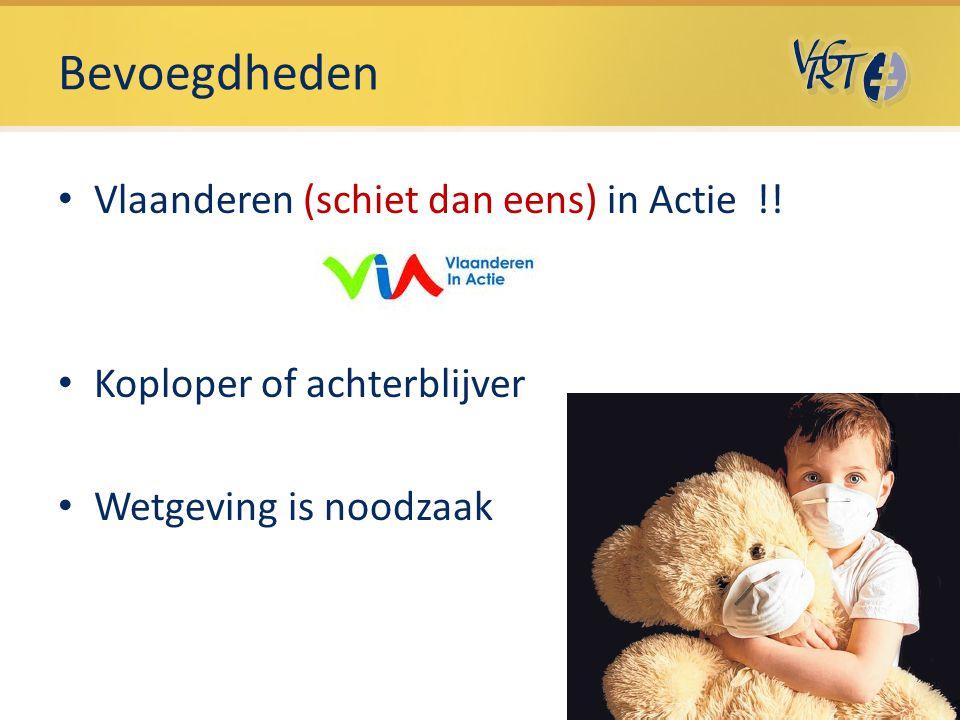 Bevoegdheden Vlaanderen (schiet dan eens) in Actie !!
