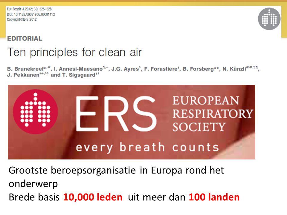 Grootste beroepsorganisatie in Europa rond het onderwerp