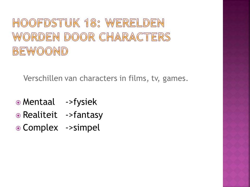 Hoofdstuk 18: werelden worden door characters bewoond