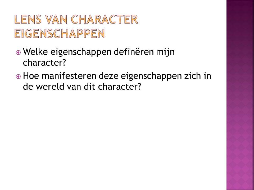 Lens van character eigenschappen