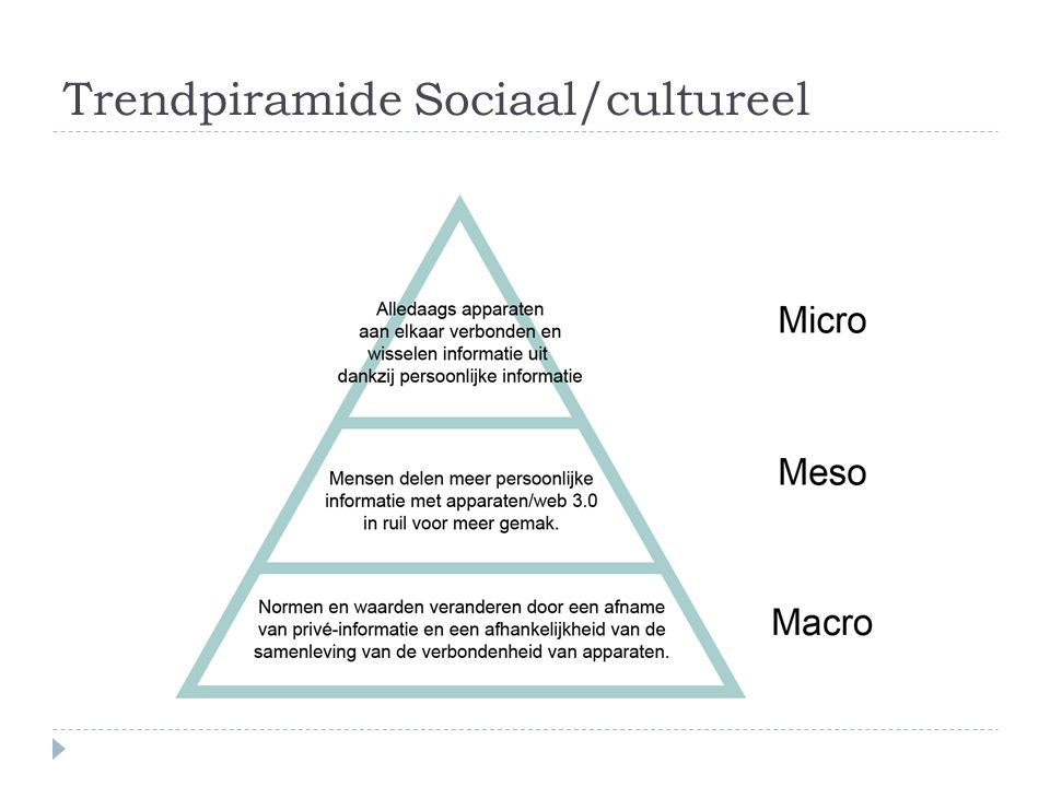 Trendpiramide Sociaal/cultureel