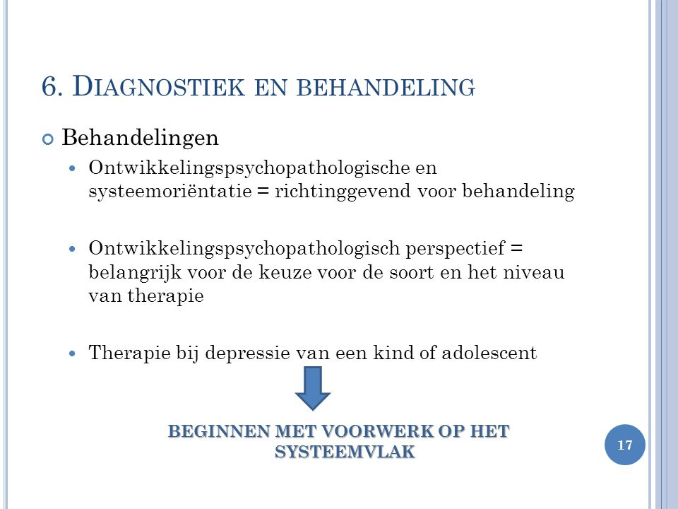 6. Diagnostiek en behandeling