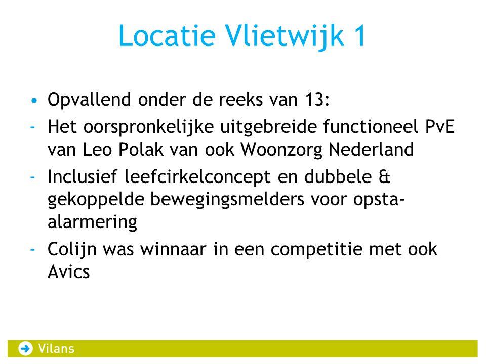 Locatie Vlietwijk 1 Opvallend onder de reeks van 13: