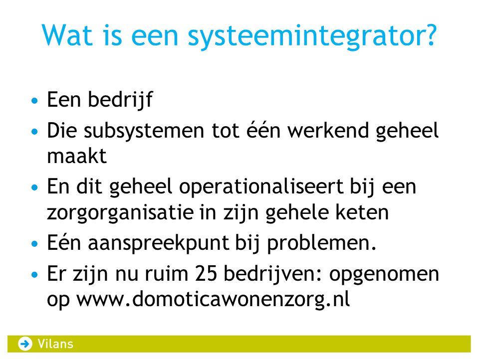 Wat is een systeemintegrator