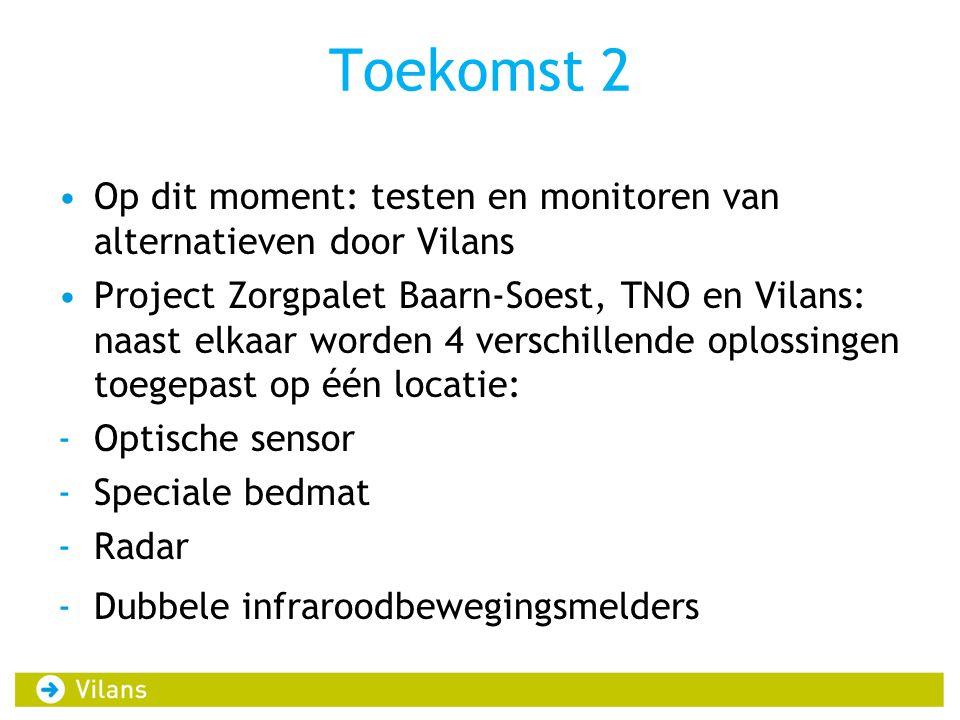 Toekomst 2 Op dit moment: testen en monitoren van alternatieven door Vilans.