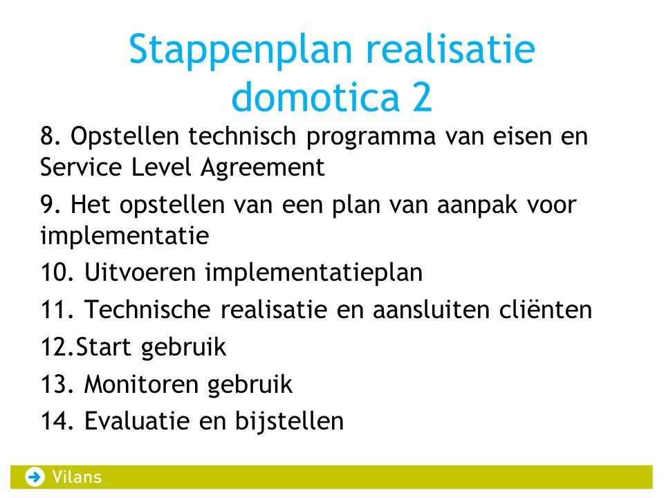 Stappenplan realisatie domotica 2