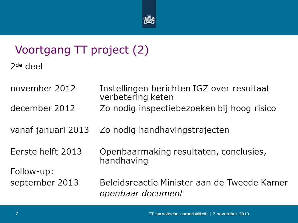 Voortgang TT project (2)