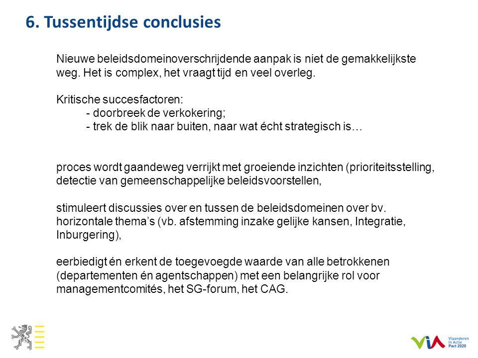 6. Tussentijdse conclusies