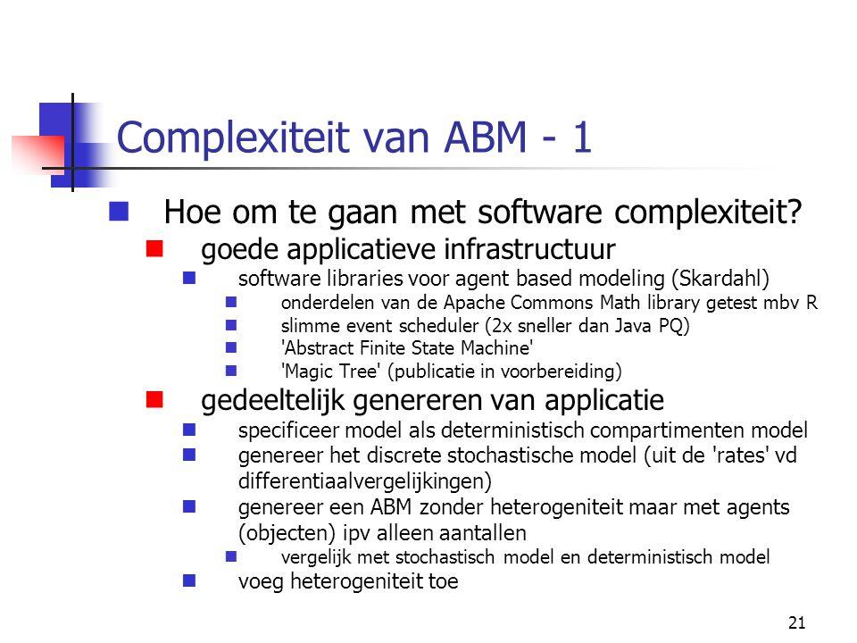 Complexiteit van ABM - 1 Hoe om te gaan met software complexiteit