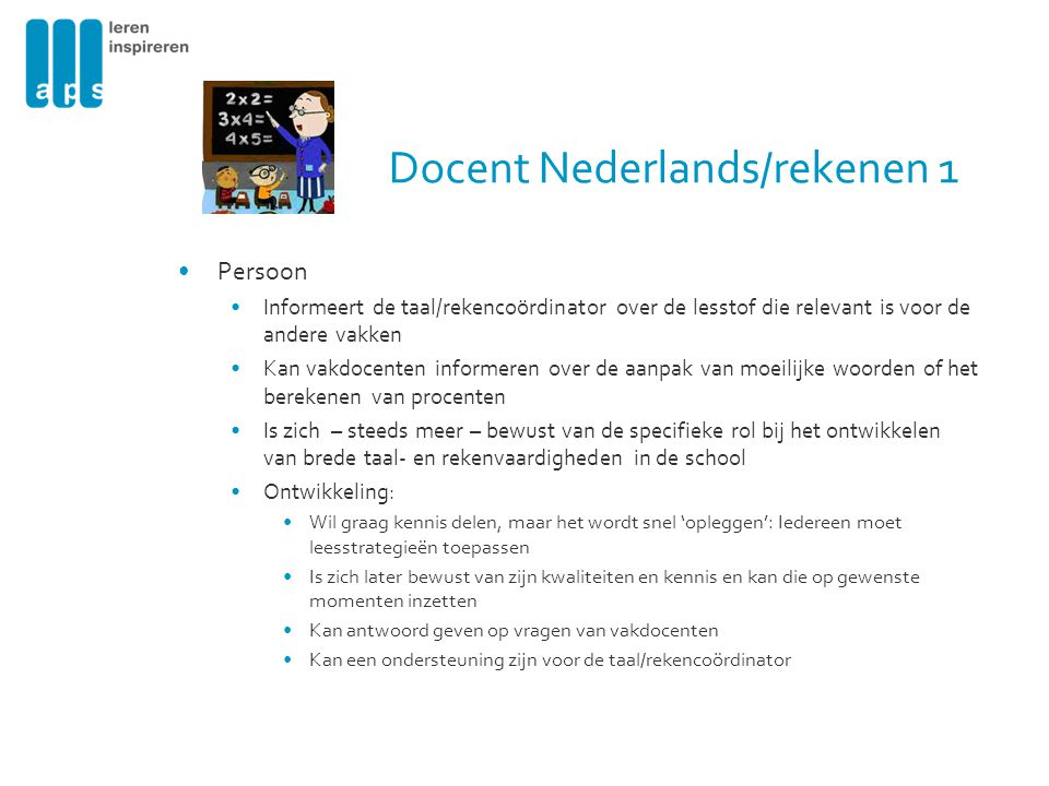 Docent Nederlands/rekenen 1