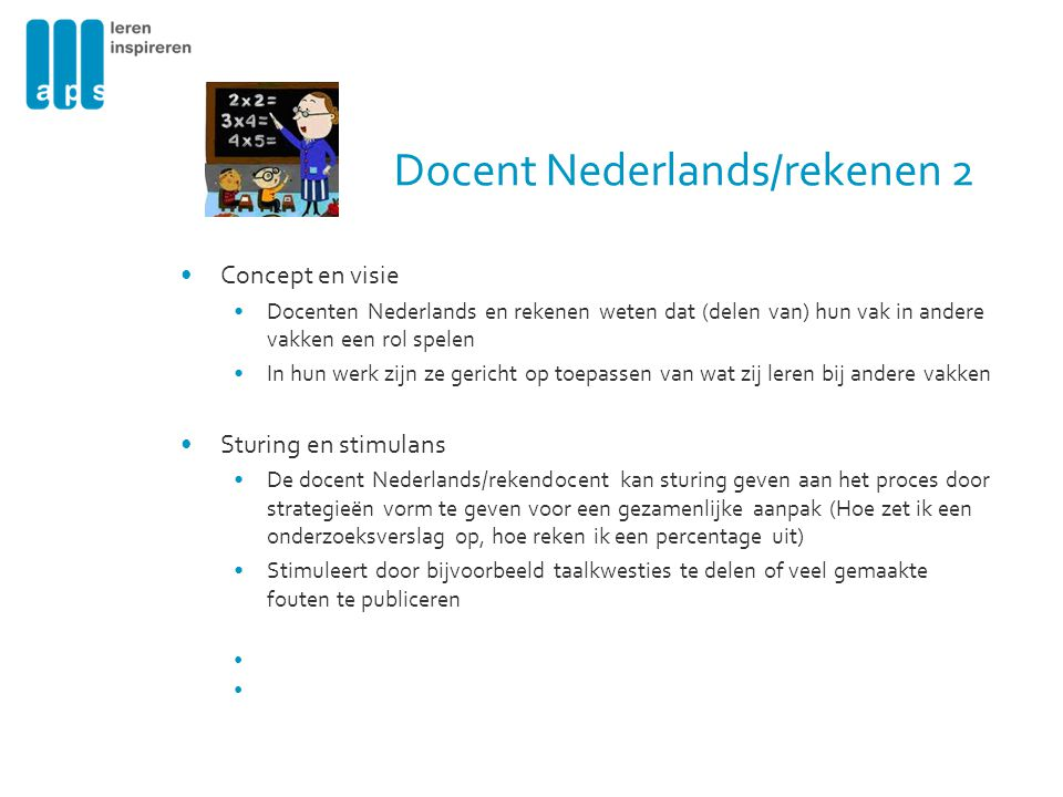 Docent Nederlands/rekenen 2