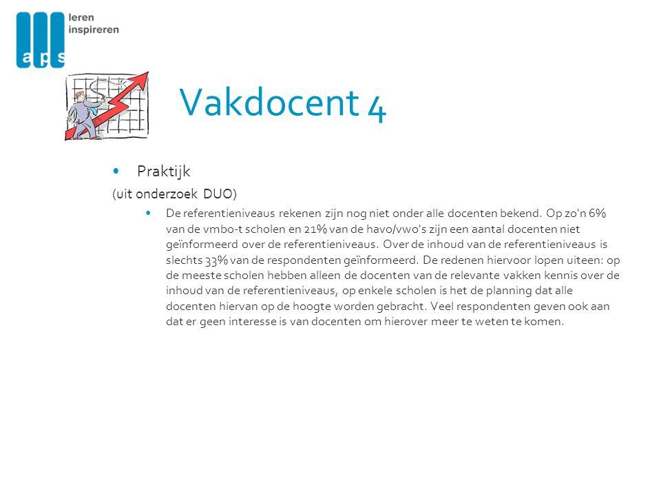 Vakdocent 4 Praktijk (uit onderzoek DUO)