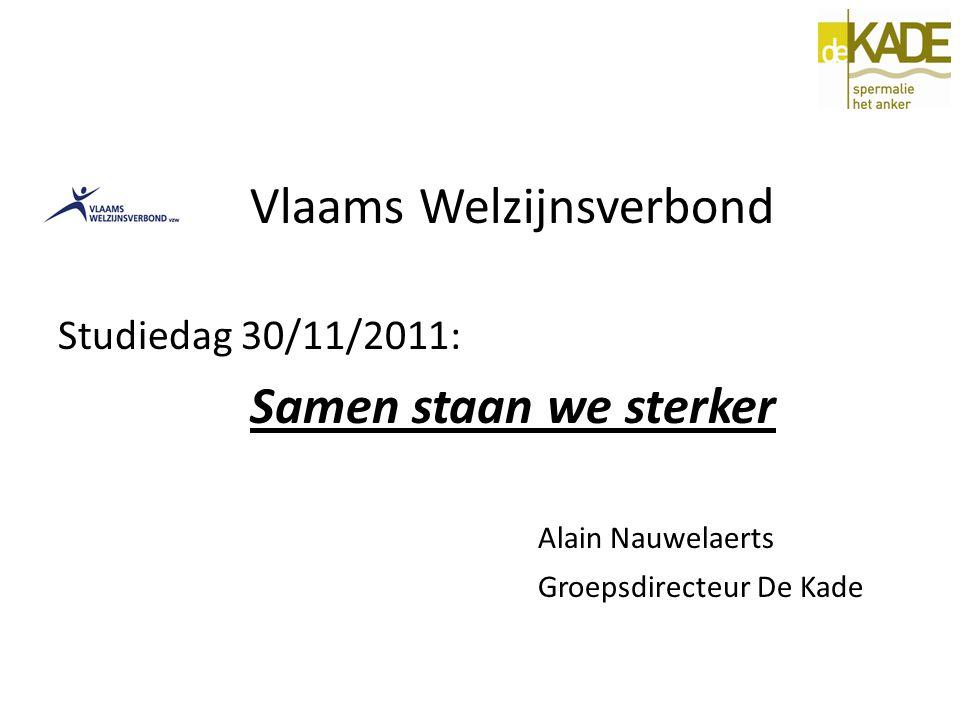 Vlaams Welzijnsverbond Studiedag 30/11/2011: Samen staan we sterker