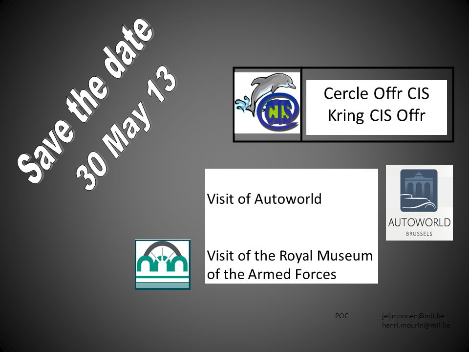 Save the date Cercle Offr CIS Kring CIS Offr 30 May 13