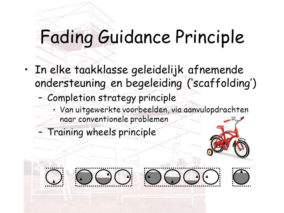 Fading Guidance Principle