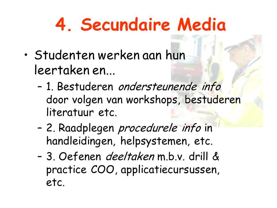 4. Secundaire Media Studenten werken aan hun leertaken en...