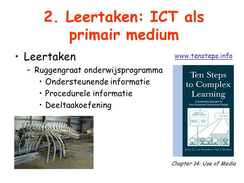 2. Leertaken: ICT als primair medium