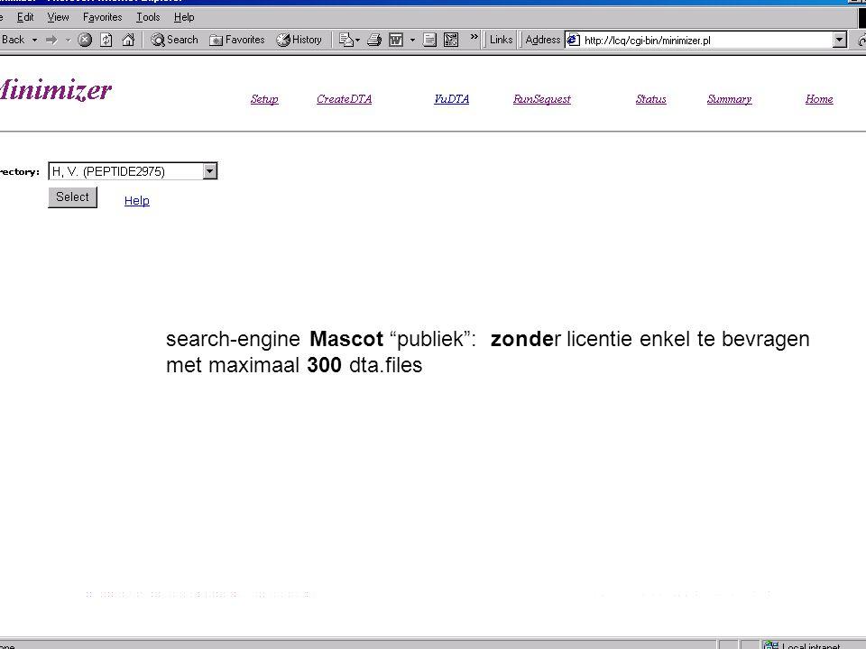 search-engine Mascot publiek : zonder licentie enkel te bevragen