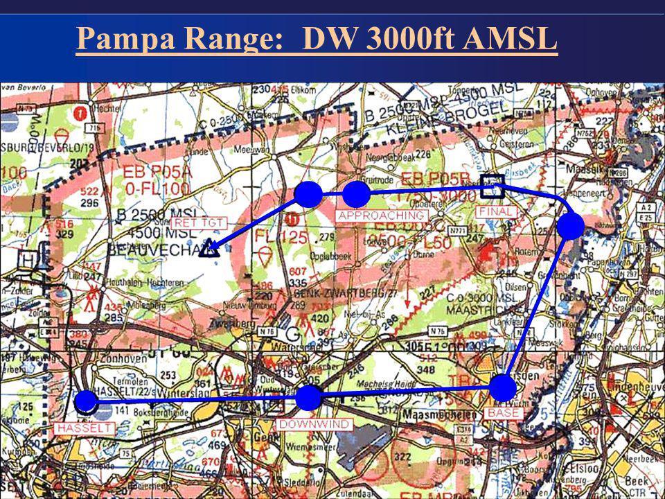Pampa Range: DW 3000ft AMSL