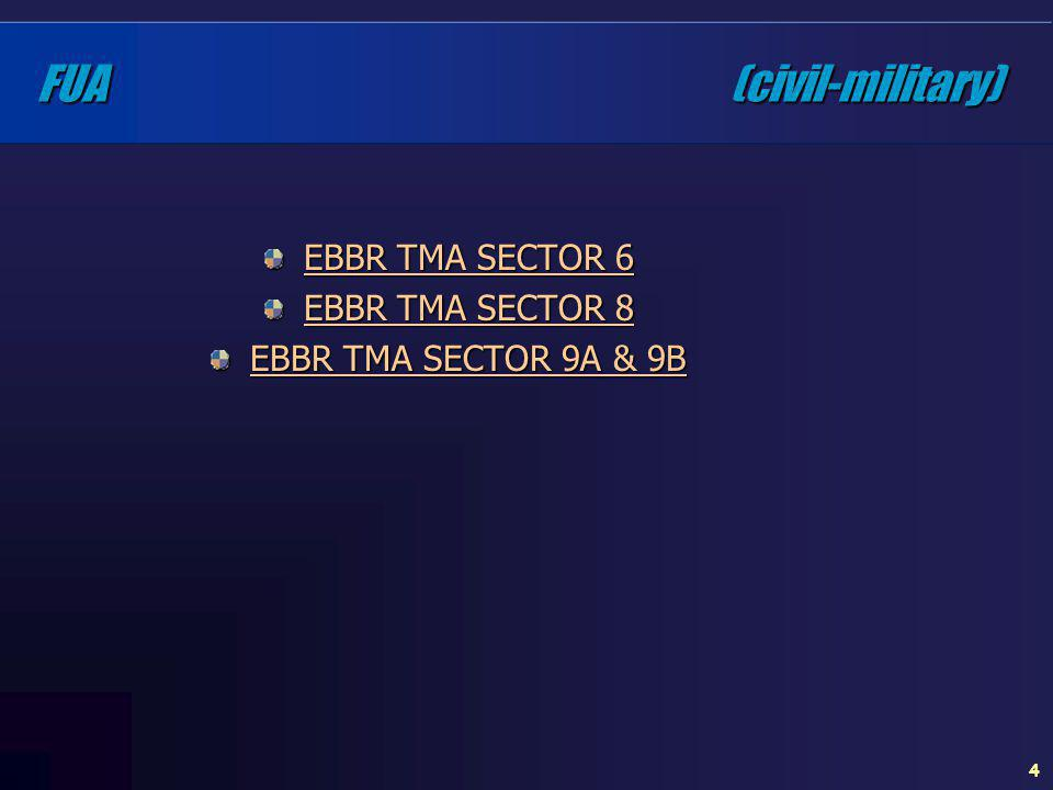 FUA (civil-military) EBBR TMA SECTOR 6 EBBR TMA SECTOR 8